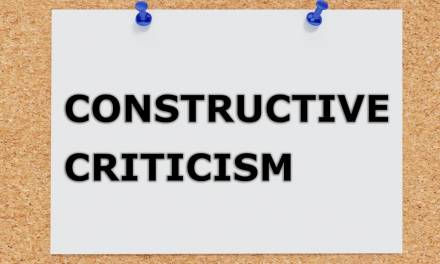 How to use constructive criticism to improve outcomes